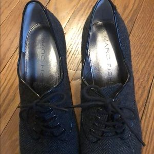 Marc Fisher Shoes - Marc Fisher Tweed Lace-Up Oxford